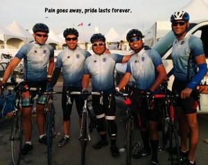 Pain goes away, pride lasts forever. Team Tetranex (from left to right): Chris Sibun, Mark de Regt, Victor Castillo, Jupiter Gutierrez and Akshay Jari
